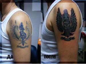 Какая татуировка означает службу на кавказе?