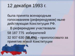 Кем была принята конституция рф 1993г
