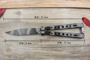 Как измерить длину клинка ножа бабочки (балисонга)