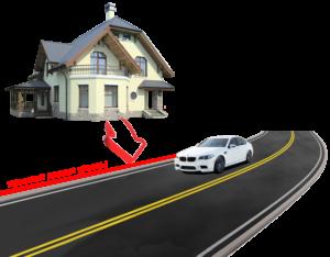 Расположение проезжей части дороги в частном секторе