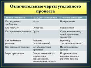 Опишите различия в процессуальном статусе между категориями гражданский истец и потерпевший