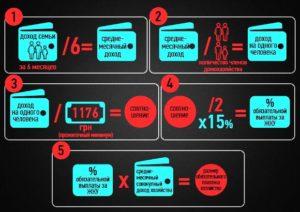 Как расчитать среднемесячный доход семьи