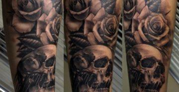 Что означает татуировка роза с черепом ?